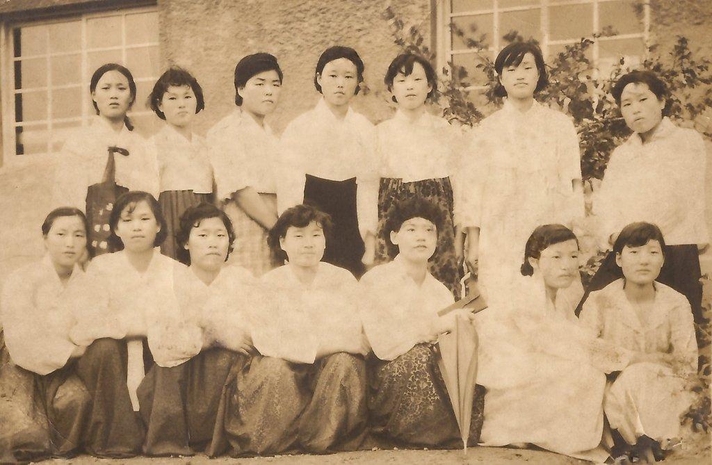 장곡3회 여자동창 1960년 당시 모습